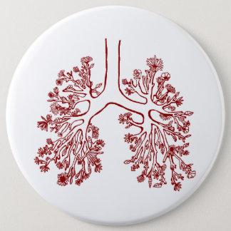 Botón anatómico floral del ejemplo de los pulmones