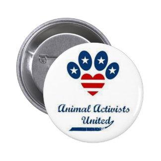 Botón animal de los activistas