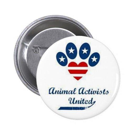Botón animal de los activistas pin