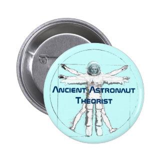 Botón antiguo del teórico del astronauta