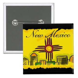 Botón artístico del horizonte de la bandera del es