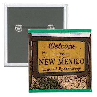 Botón artístico del signo positivo de New México