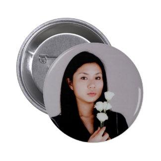 Botón asiático del estilo de la película del chica pins