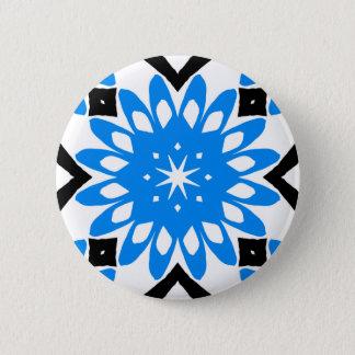 Botón azul de la flor del arte de la mandala