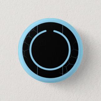 Botón azul de Techno