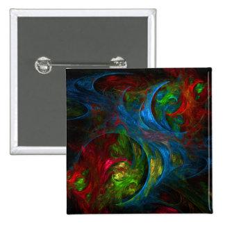 Botón azul del arte abstracto de la génesis (cuadr