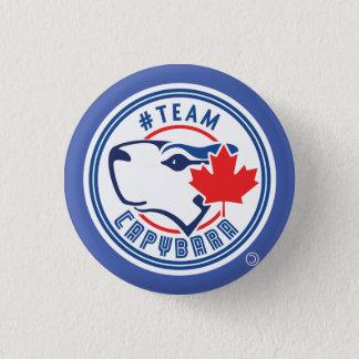 Botón azul del Capybara del equipo (pequeño)
