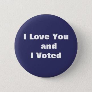 Botón azul del voto