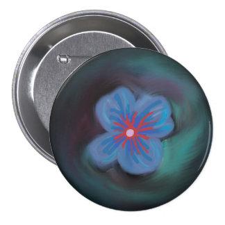 Botón azul hermoso de la flor