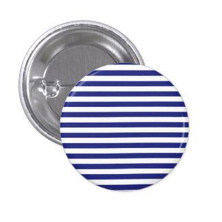 Botón azul y blanco de las rayas pins