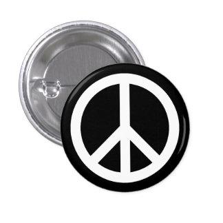 Botón blanco del símbolo de paz