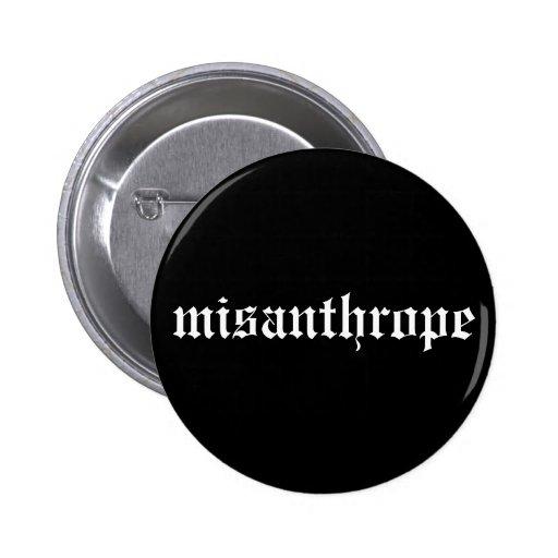 Botón blanco y negro del misántropo pins