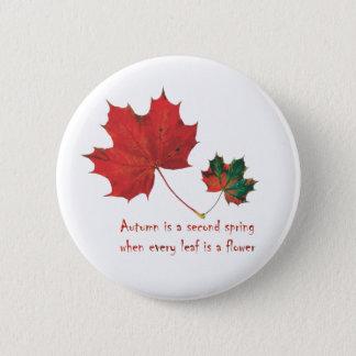 Botón - botón de la cita del botón del otoño