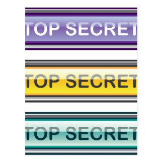 Botón brillante secretísimo postal