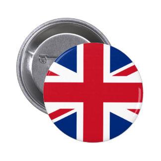 Botón británico de la bandera pins