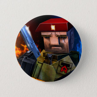 Botón brutal del guerrero del juego el | de