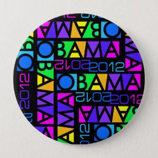 Botón colorido de OBAMA 2012, enorme