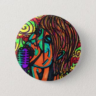 Botón colorido del cantante