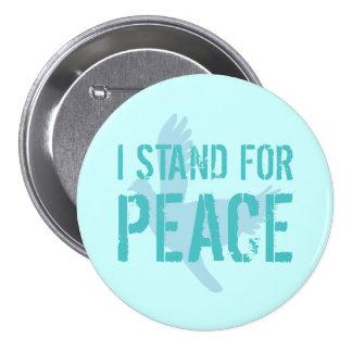 Botón con el mensaje de la paz