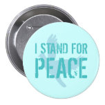 Botón con el mensaje de la paz pin