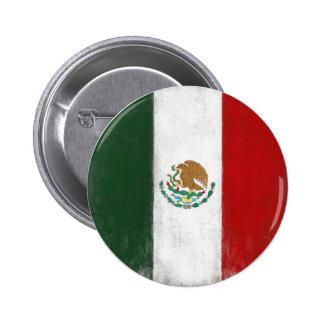 Botón con la bandera apenada de México Pins