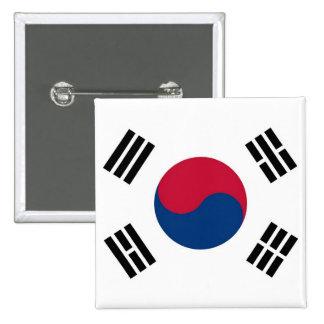 Botón con la bandera de la Corea del Sur Pin