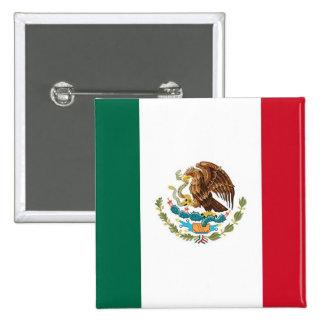 Botón con la bandera de México