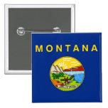 Botón con la bandera de Montana Pins