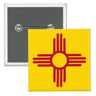 Botón con la bandera de New México
