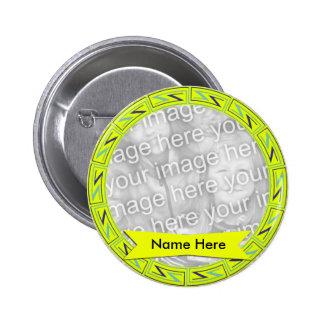 Botón conmemorativo del modelo del amarillo ZZ de