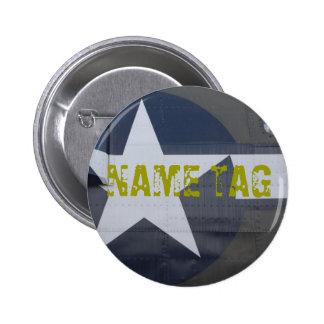 Botón conocido de la etiqueta B-17 Pins