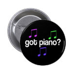Botón conseguido colorido de la música del piano pin