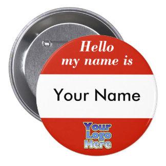 Botón Corporate Logo de la etiqueta del nombre