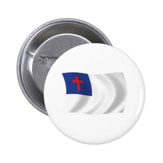 Botón cristiano de la bandera de la religión pins
