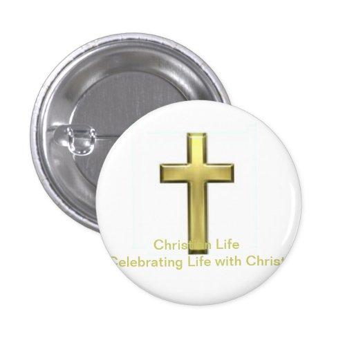 Botón cristiano de la vida pin
