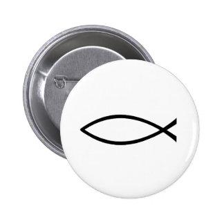 Botón cristiano de los pescados