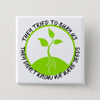 Botón cuadrado de las semillas