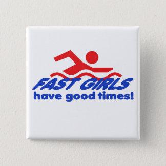 Botón cuadrado de los chicas rápidos