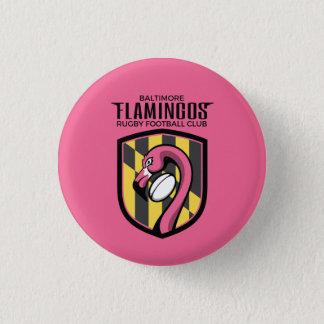 Botón cuadrado de los flamencos de Baltimore