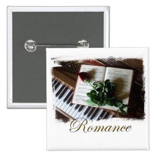 Botón cuadrado romántico elegante
