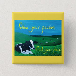 Botón cuadrado (vaca)