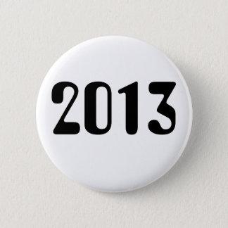 Botón de 2013 blancos con las letras negras