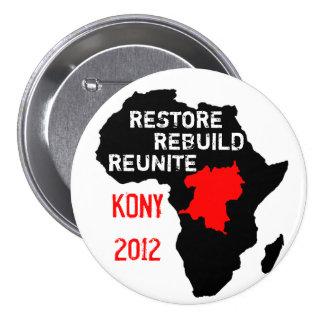 Botón de África central del restablecimiento Pin