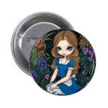 """Botón de """"Alicia y de las flores"""" Pin"""