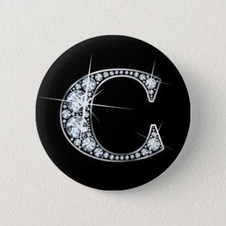 """Botón de Bling del diamante de """"C"""""""