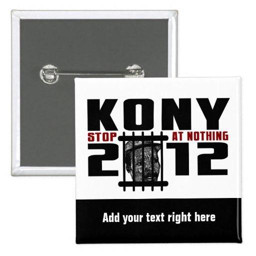Botón de Customizeable KONY 2012 Pins