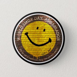 Botón de Day® 2016 de la sonrisa del mundo