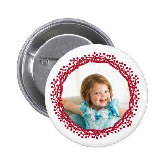 Botón de encargo de la foto de la guirnalda de la