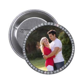 Botón de encargo de la foto del anillo de Bling
