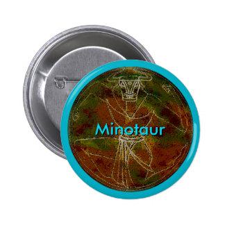 Botón de encargo de Minotaur Chapa Redonda 5 Cm